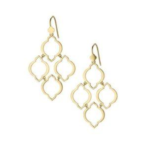Stella dot arabesque chandelier earrings gold